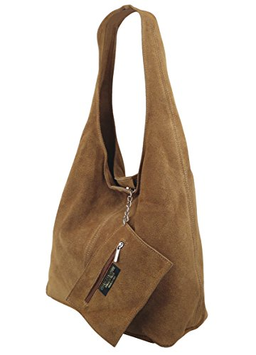FreyFashion - Made in Italy, Borsa a spalla donna cognac
