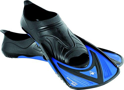 Aqua Sphere Trainingsflossen Microfin HP Schwimmen Training Fin, schwarz/blau, 44/45, ST116135