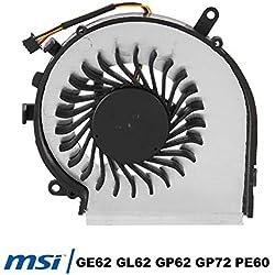 Acogedor Ventilateur de CPU pour MSI,Ventilateur de CPU pour MSI GE62 GL62 GE72 GL72 GP62 GP72 PE60 Série PE70 Compatible P/N: PAAD06015SL N303