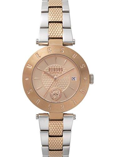 Versus Logo montre pour femme 2tons Or rose avec bracelet en acier inoxydable Sp772618