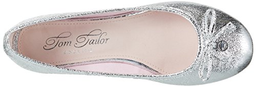 TOM TAILOR Damen 2794303 Geschlossene Ballerinas Silber (Silver)