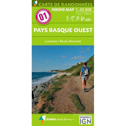 Pays basque ouest : 1/50000