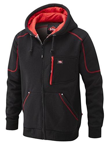 Lee Cooper Workwear, Felpa in pile con cappuccio, colore: Nero, taglia XXL, LCSWT105