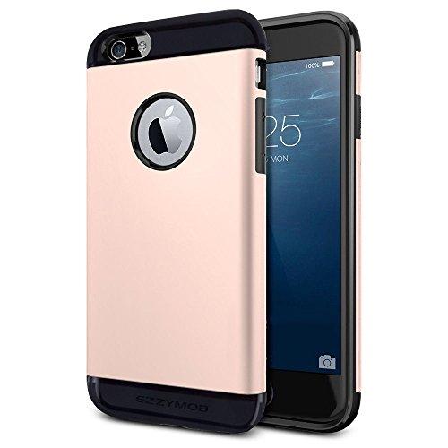 iPhone 6Fall und iPhone 6Plus Schutzhülle, ezzymob® Heavy Duty, Ultra Slim Hybrid Armor Hülle, stoßfest TPU Gummi und Polycarbonat für Apple iPhone 6/6S und Apple iPhone 6Plus. iPhone 6 Plus (5.5-inches) Rose Gold