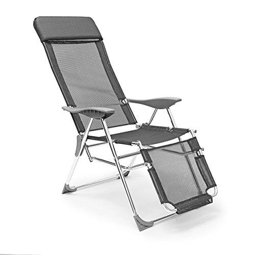 Relaxdays - Silla Plegable de Acampar, 110 x 60 x 75 cm,...