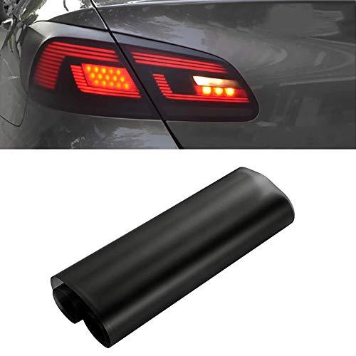 12 x 60 Zoll Auto Licht Film Aufkleber selbstklebende Auto Vinyl Blatt Aufkleber für Rauch Nebel Licht Rücklicht Scheinwerfer Farbton Wrap Film schwarz