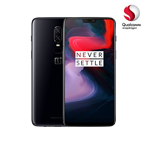 OnePlus 6 - Smartphone de 6.28' (Pantalla AMOLED 19:9 FullHD, Cámara Dual 16+20MP, 6GB de RAM, hasta 64GB de Memoria, Qualcomm Snapgradon 845) Negro (Mirror Black)