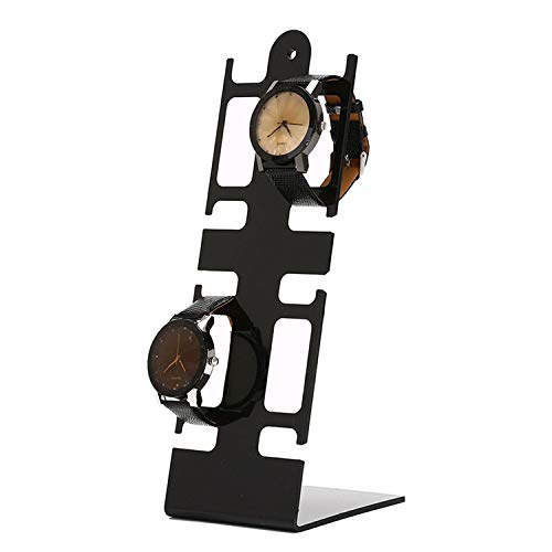 Wand-8-CC Tragbare Uhrenbox für Armbanduhren, mit Ständer aus Kunststoff, 4 Halterungen, 3, Einheitsgröße
