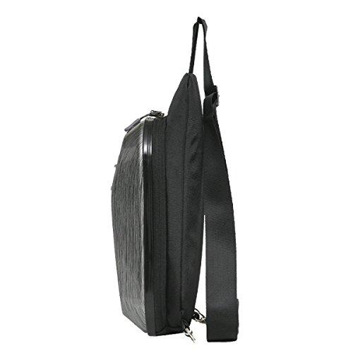 Yy.f Neue Brusttasche PVC-Material Männer Schulterbeutel Diagonales Paket Den Trend Der Harten Schale Beutel Männer Und Frauen Mode-Liebhaber Multicolor Grey