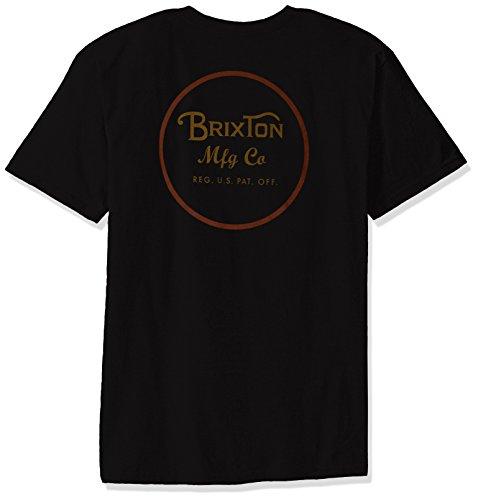 Brixton Herren T-Shirt Wheeler Standard Black/Orange