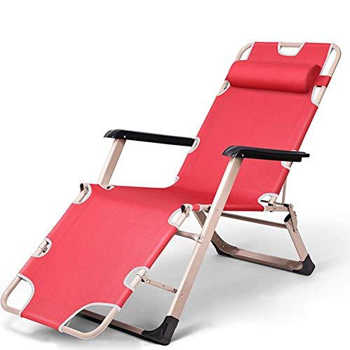 ZXZJ Liegestühle, tragbare Outdoor-Lounge-Stühle, Büro verstellbare Lounge-Stühle, für Terrassen, Schwimmbäder, Camping, Strände/Rot - Rot Plaid Lounge