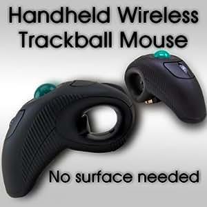 Handheld Wireless Trackball Mouse For Laptop Desktop PC w/ Laser pointer