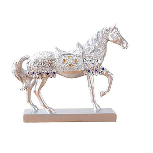 ion, europäische Wohnzimmer Weinschrank Dekoration Büro Dekoration Silber Pferd Dekoration Handwerk 27 * 36cm / 27 * 27cm (Style : A) ()