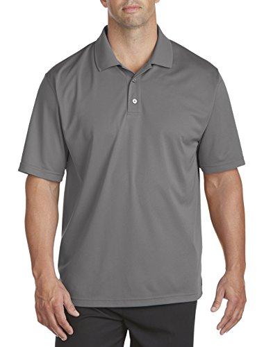 Reebok Play Dry (Reebok Big & Tall Play Dry Golf Solid Polo (2x l, Jade Stein) Gr. XL Hoch, Shark Grey)