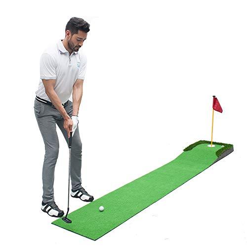TESITE Home Golf Putting Exerciser Child Set di Tappetini per Esercizi per Adulti (3m * 50cm)