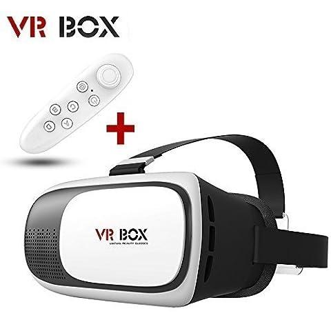 Ruichenxi VR Box, 3D Virtual Reality VR Headset VR Brille. VR-Box für Smartphones, iPhone 6, 6 plus, Samsung Galaxy-Handys. Einstellbare Focal Pupillenabstand . Durch OVO Einstellbare Brennweite Pupillendistanz