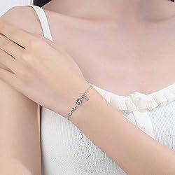 Jenny.Ben Einfache Mode Micro Moon Star Quaste 925 Sterling Silber Mondstein Armband Für Frauen Mädchen Sommer Schmuck Geschenk