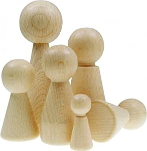 Figurine cône en bois à peindre, décorer - 68mm - lot de 5