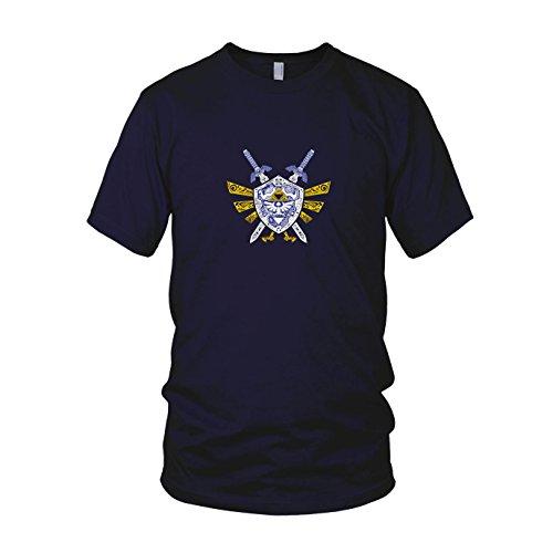 Link Elements - Herren T-Shirt Dunkelblau