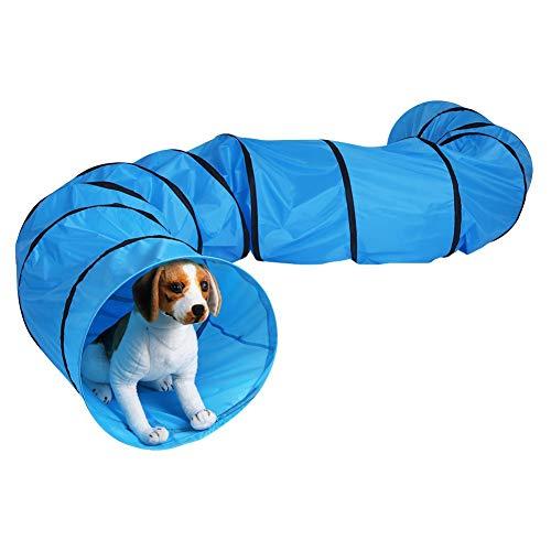 GOTOTOP Pets Agility Tunnel, Ausrüstung für Outdoor Training Tunnel Spiel für Hunde, Welpen, Katzen, Kätzchen, Frettchen, und Kaninchen