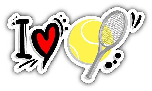 I Love Tennis Auto-Dekor-Vinylaufkleber 15 X 8 cm