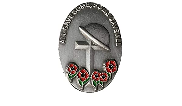 Vintage 2018 World War I 100th Anniversary UK Military Navy Red Poppy Pin Badge