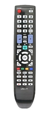 Quality checked 100% Compatiable Samsung LCD/LED Remote Replacement (URC-77) , Works with alomost all Samsung LED/LCD TV.  available at amazon for Rs.199