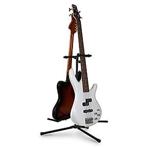 Auna Doppio Poggia-Chitarra/Basso Testa struttura a Y (per 2 chitarre / Bassi, Superfici in gommapiuma, Verniciato A Polvere)