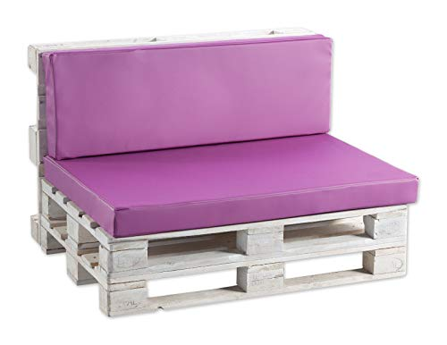 Palettenkissen Palettenauflagen Kunstleder glatt (Sitzkissen 120x60 glatt, Kunstleder Pink)