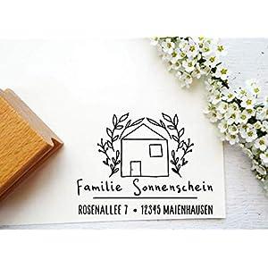 Adresstempel, Familienstempel Geschenk zum Einzug, Umzug, Hauskauf