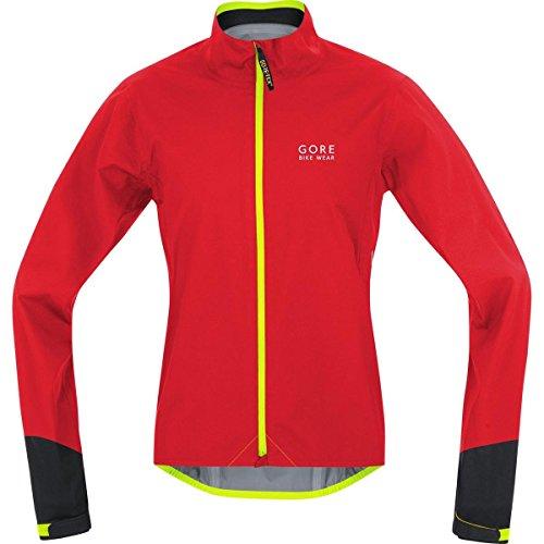 Gore Bike Wear JGPOWR359904 Giacca Uomo Ciclismo su strada, Impermeabile, GORE-TEX Active, POWER GT AS, Taglia M, Rosso/nero