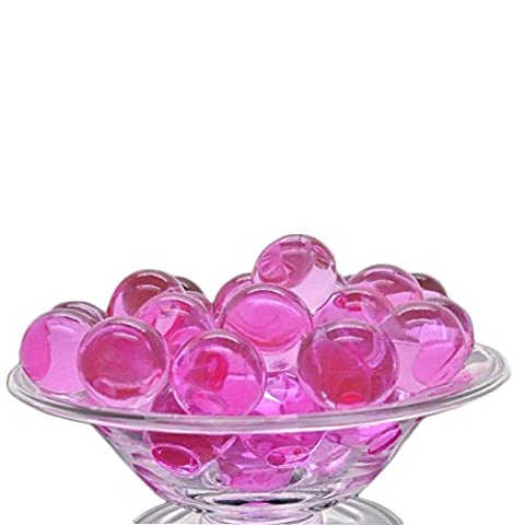 500 Pieces Pink Bio Gel Aqua Round Beads - Table Centerpiece for Birthdays, Weddings, Debuts, Anniversaries, & Events - Home or Office Vase Decorations - Water ball can be used to feed plants