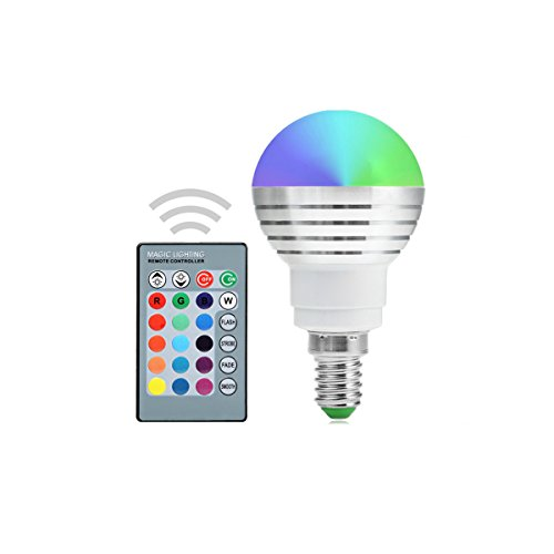 E14Dimmbar 5W RGB LED Leuchtmittel Colorful RGB Lampe Kronleuchter LED Light IR-Fernbedienung AC 85-265V (1) - Fünf Light Kronleuchter Lampe
