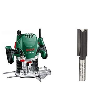 Bosch POF 1400 ACE - Fresadora de superficie (1.400 W, en maletín) + Bosch 2 608 628 374  - Fresas de ranurar - 8 mm, D1 12 mm, L 32 mm, G 62 mm (pack de 1)