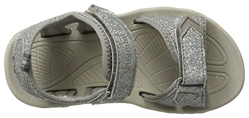 Hummel Glitter Jr, Sandales Bout Ouvert Fille Gris (Frost Grey)