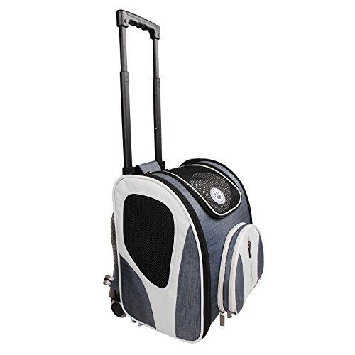 Premium Pet Carrier Backpack Trolley Bag Travel Cat Dog Pet Accessory Kennel Pen For Bus Car Train Journey