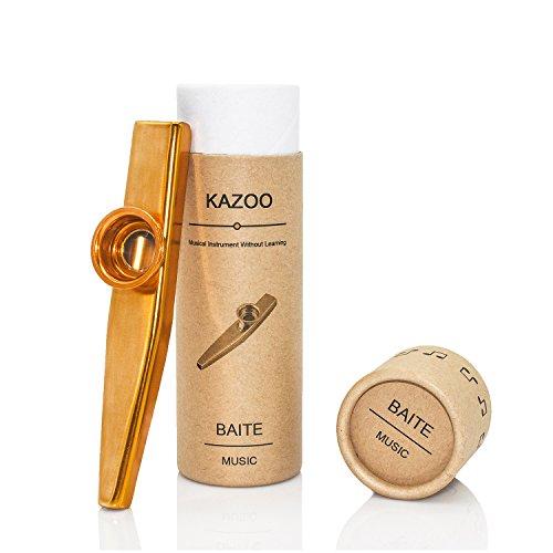 Kazoo metálico calidad de empaquetado de regalo hermoso (un buen compañero...