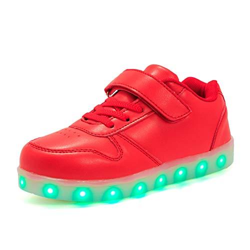 Licy-Life-UK-Unisex-Nios-Nias-Zapatos-Zapatillas-de-LED-7-Colors-USB-Carga-Luz-Luminosas-Flash-Deporte-para-Deportivas-para-Navidad-Fiesta-de-Regalo