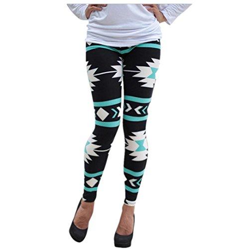 Tonwalk Women Sports Pants Printing Leggings Trousers (L)
