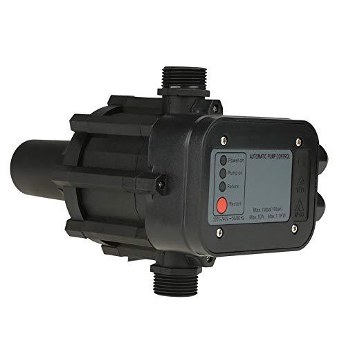 Interruptor de presión - 220V Negro Controlador automático de presión automático del interruptor de presión de la bomba de agua
