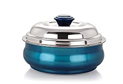 NanoNine Stainless Steel Serving Pot, 1 Litre, Blue