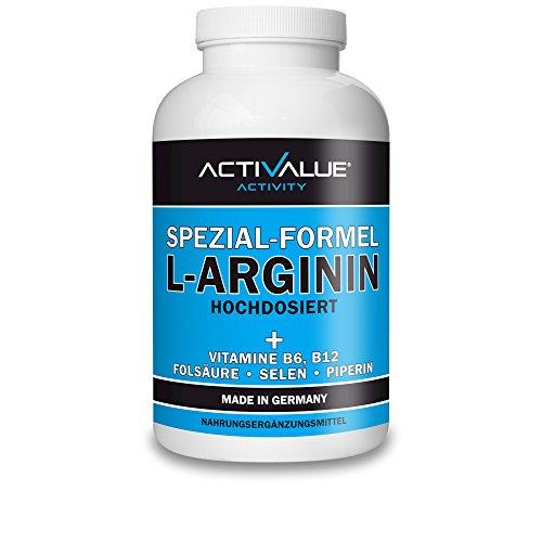 TESTSIEGER L-Arginin Test 2016 bei Preis-Leistung*: L-ARGININ HOCHDOSIERT, 360 Kapseln, deutsche Premium-Qualität, mit VITAL-FORMEL B6, B12, Folsäure, Selen und Bioperin - AKTIONSPREIS! -
