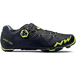 Northwave Ghost XC bicicleta de montaña guantes negro/amarillo 2018, 46