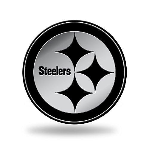 Rico NFL Geformtes Auto-Emblem, Silber, 3.75