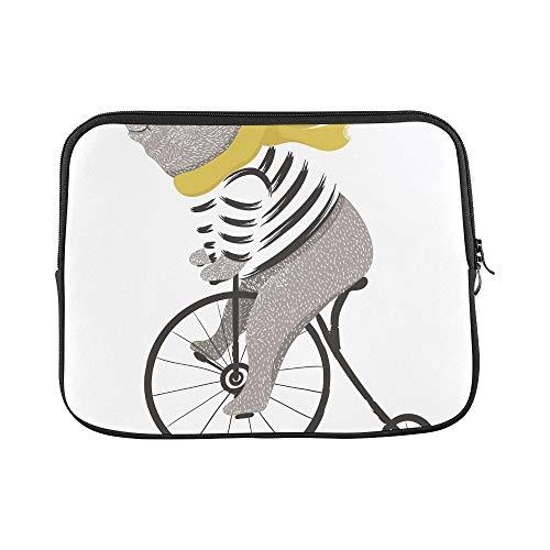 QuqUshop Design Benutzerdefinierte Nette Bär Fahrrad Zirkus Zeigen T-Shirt Grafiken Hülse Weiche Laptop Tasche Tasche Haut Für MacBook Air 11
