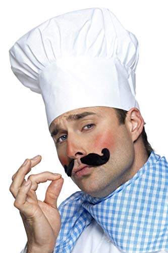 Smiffy'S 25978 Gorro De Chef, Blanco, Tamaño Único