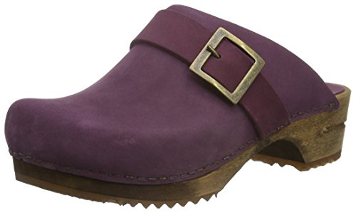 Sanita Damen Urban Open Clogs Violett (Aubergine 47)