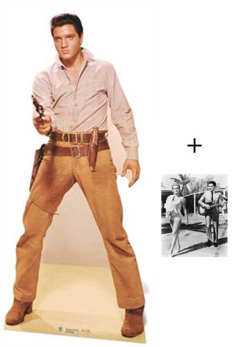 Fanbündel - Elvis Presley Gunfighter Lebensgrosse Pappfiguren / Stehplatzinhaber / Aufsteller - Enthält 8X10 (25X20Cm) starfoto -