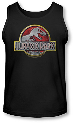 Jurassic Park - - Herren Logo Tank-Top Black