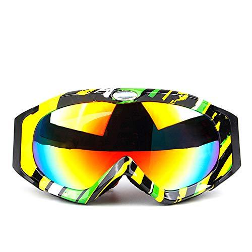 KnBoB Skibrille Nacht Sonnenbrille Motorrad Sonnenbrille UV Schutz Sportsonnenbrille Polarisiert Bunt